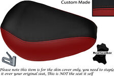 DARK RED & BLACK CUSTOM FITS YAMAHA VIRAGO XV 250 FRONT LEATHER SEAT COVER