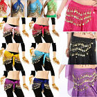 Top 3 Rows Belly Dance Dancing Hip Skirt Scarf Wrap Belt Hipscarf With 98 Coins