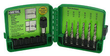 Greenlee DTAPKIT Combination Drill and Tap Bit Set, 6-32 to 1/4-20, 6-Piece