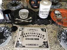 Magenta Ouija Board Cheese Server Plate Halloween Primitive Vintage Style New!