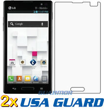 2x Clear LCD Screen Protector Cover Guard T-Mobile MetroPCS LG Optimus L9 P769