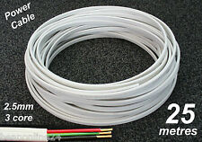 25m roll electrical cable flat 2.5sq mm 3 core (2C+E) wire for power circuits