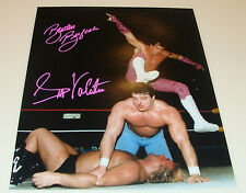 Brutus The Barber Beefcake Greg The Hammer Valentine Signed 11x14 Wrestling Dual