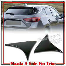 Dry Carbon Fiber For Mazda 3 3rd Hatchback Rear Side Fin Triangle Cover Trim 16