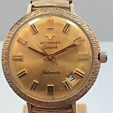 Vintage Wittnauer Geneve Automatic NUGGET STYLE MENS SWISS DATE WRIST WATCH