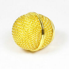 1x Mesh Microphone Grille for Shure SM58 565SD-LC Microphone ,Gold Plated
