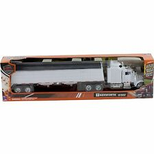 New Ray Kenworth W900 Grain Semi Truck Trailer 1:43 Diecast Toy White