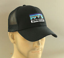 New Genuine Patagonia P-6 Logo Trucker Hat Snapback Forge Golf Cap Surf Skate Bk