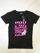 BN Fox Ladies Black Printed Short Sleeve Stretch Tee  Size 8