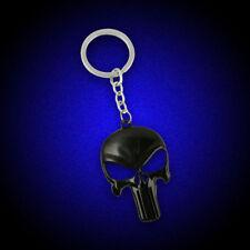 Noir Porte clé Crâne Punk trousseau Punisher Design anneau Saint-Valentin cadeau