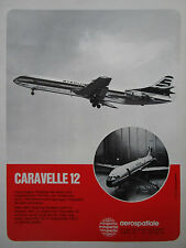 7/1972 PUB AEROSPATIALE CARAVELLE 12 STERLING AIRWAYS AIR INTER GERMAN AD