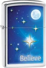 Zippo Windproof Color Image Lighter With Moon, Stars & Believe, 29071 New In Box