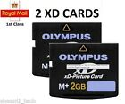 2 x 2GB XD MEMORY CARD TYPE M+ XD-PICTURE CARD OLYMPUS FUJI - FREE DELIVERY
