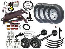 Hydraulic Dump Trailer Parts Kit - Tandem Electric Brake Axles - Model 14HD SD