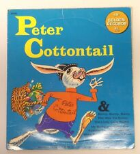 Vintage 1966 PETER COTTONTAIL Golden Records 45 RPM Vinyl Record in Sleeve