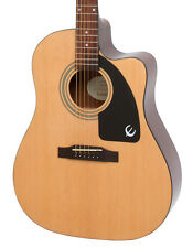 Epiphone AJ-100CE Advanced Jumbo Electro Acoustic Guitar, Natural (NEW)