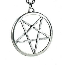 Occult Inverted Pentagram Necklace Goth Emo Punk Metal Thrash Alternative Grunge
