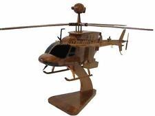 Army OH-58D Kiowa Warrior Scout Attack Wooden Mahogany Wood Helicopter Model New