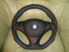 EXTREM TUNING Lederlenkrad  BMW E90 E91 E92 E93 E81 E82 E87  UNTEN  ABGEFLACHT