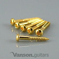6 x NEW Domed Vanson Tremolo / Bridge Screws for Strat®* type guitars