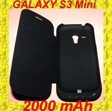 ★ 2000mAh Coque Chargeur avec BATTERIE Flip COVER ★ Pour SAMSUNG GALAXY S3 Mini