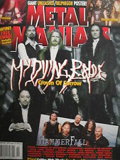 MY DYING BRIDE Feb. 2007 METAL MANIACS  HAMMERFALL  DANZIG  THE MELVINS  CANAAN