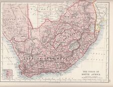 1921 MAP ~ UNION OF SOUTH AFRICA ~ CAPE OF GOOD HOPE ORANGE FREE STATE TRANSVAAL