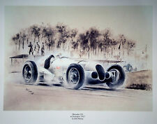 MR7 Mercedes 125 Donington 1937 Beautiful Motoring Classic Car Print Poster