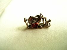 VINTAGE STERLING SILVER CHARM CHICKEN OVER OPEN FIRE SPIT ENAMEL