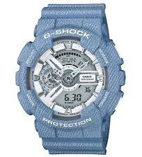 Casio G Shock * GA110DC-2A7 Denim Pattern Blue/White Gshock Watch COD PayPal