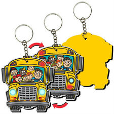 Back to School School Bus Keychain Key Chain 3D Lenticular  #KCEVA-270#