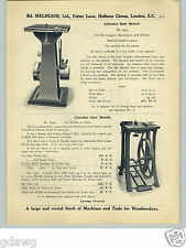 1913 PAPER AD Treadle Foot Power Circular Saw Bench