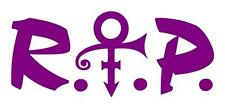 PRINCE REST IN PEACE 4X9 MEMORIAL CAR WINDOW LAPTOP IPAD GUITAR DECAL STICKER