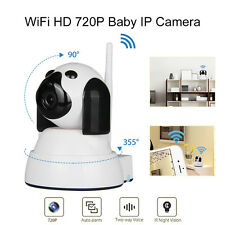Wireless 355° Security IP Camera WiFi Baby Monitor Night Vision Portable For iOS