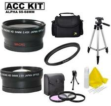 Accessory Kit For Sony Alpha A450 A390 A380 A230 A99 A77 A65 A58 A57 A37 A35 A33