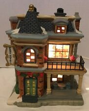 Park Hotel Christmas Village Lighted Building Store Town