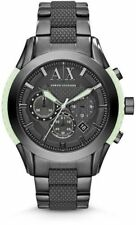 BRAND NEW ARMANI EXCHANGE AX1385 GUNMETAL & GLOW IN THE DARK ACCENTS MEN'S WATCH