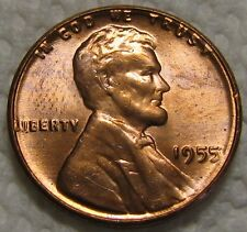 1955 DOUBLE DIE LINCOLN WHEAT CENT FROM PENNY COLLECTION 55 DDO