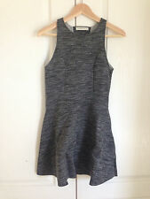 Abercrombie & Fitch Dress M Neoprene Black Gray Tie Dyed Skater Cut-out Back New