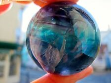AWESOME FLUORITE CRYSTAL SPHERE OR BALL DEFINED COLOURS 40 MMS 155g