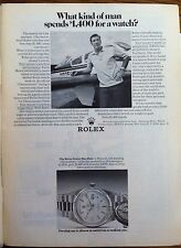 1972 ROLEX OYSTER CASE DAY DATE AIRPLANE PILOT ORIGINAL ADVERTISING WATCH AD