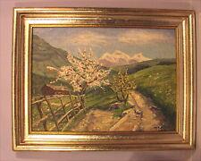 Altes Ölgemälde Landschaft von 1924