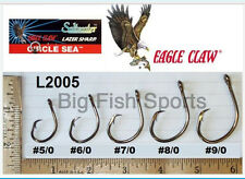 50 EAGLE CLAW CIRCLE SEA Saltwater Fishing Hooks 6/0 SZ #L2005F FREE USA SHIP!
