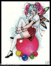 GLITTER SPARKLE SEXY PIXIE FAIRY TAIL FANTASY PIN UP PARTY GIRL TEMPORARY TATTOO