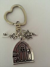 I love Fairies Heart Shape Key Ring fairy door & key charm mythical gift present