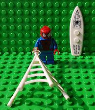LEGO SUPERHEROES - Spiderman Minifigure Web & Board - Split From 76059