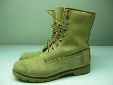 VINTAGE AMBER MADE IN USA DISTRESSED TIMBERLAND WORK LACE UP BOOT SIZE 10.5 W