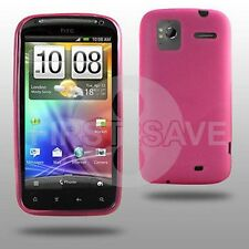 PINK GEL HYDRO SKIN COVER CASE FOR HTC SENSATION PHONE