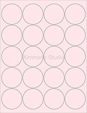 6 SHEETS  2 ROUND CIRCLE BLANK PINK STICKERS ~120 LABELS~ CANNING JAR LABELS