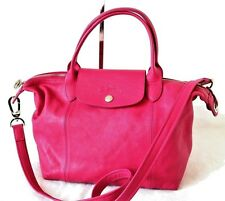 Authentic Longchamp Le Pliage Cuir Pink Leather Tote